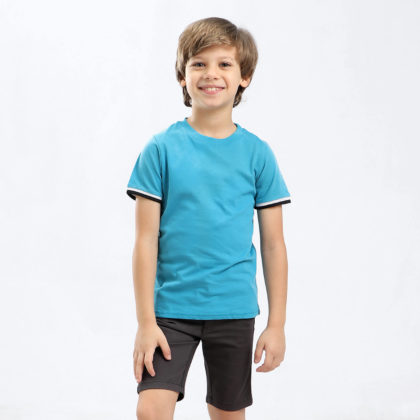 Ted Marchel Custom Fit Crew Neck Short sleeves T-Shirt for kids