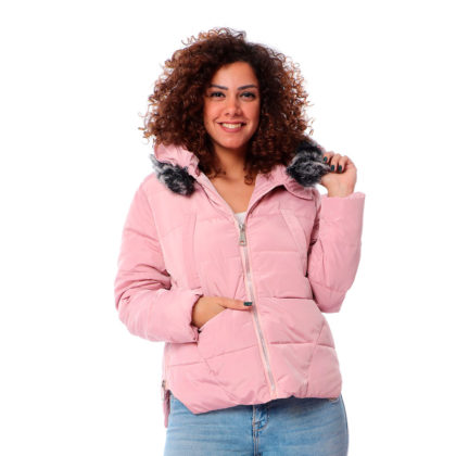 Waterproof Fur Hooded Neck Puffer Jacket